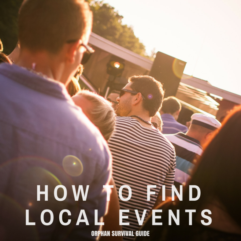 Orphan Survival Guide - How To Find Local Events